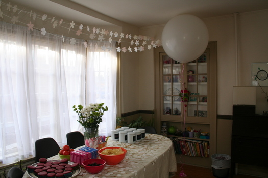 Giant balloon birthday party decoration