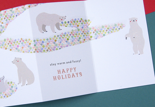 Polar Bears Holiday Card by The Nimbus Factory