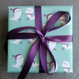 Seal Harp Wrapping Paper by The Nimbus Factory