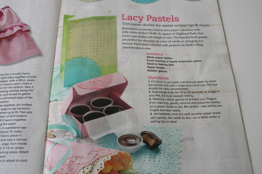 Doily Craft in Country Woman Magazine