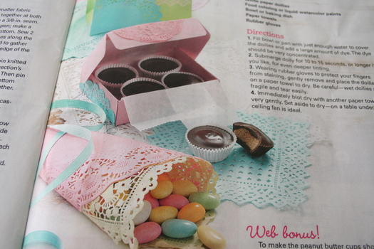 Charlottes Fancy Doily Craft Close Up in Country Woman Magazine