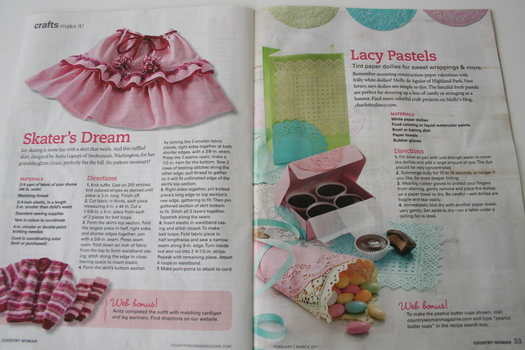 Country Woman Magazine Spread with Charlotte's Fancy Craft