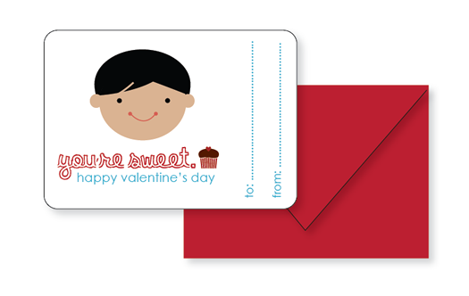 Sophie and Lili Printable You're Sweet Valentines Boy