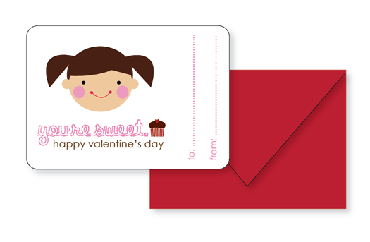 Sophie and Lili Printable You're Sweet Valentines Girl