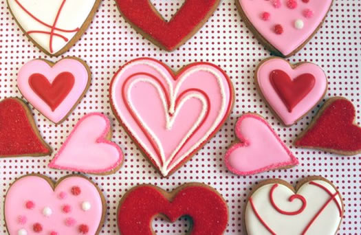 Decorative Heart Cookies by Eleni's