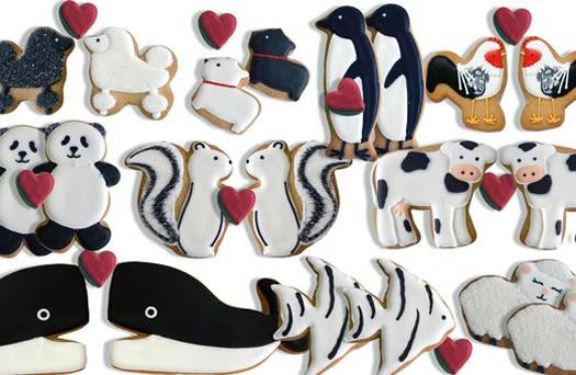 Valentine Animals Cookies by Eleni's