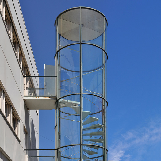 Arne Jacobsen fire escape stairs by seier and seier
