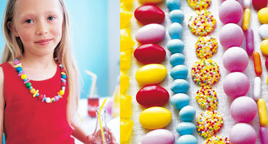 Candy necklaces by Camilla Lundsten