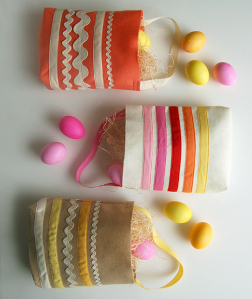 Rick rack Easter totes by Purl SoHo