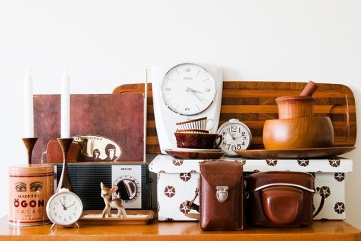 Vintage items in brown by Hilda Grahnat