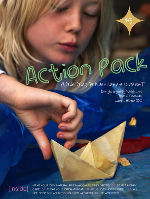 Whip Up's Action Pack mini mag for kids