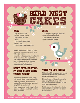 Birds Nest Cakes by Belinda Strong