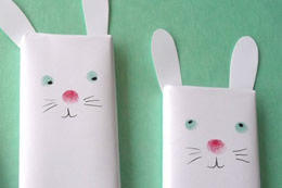 Chocolate bunnies craft by the Crafts Dept