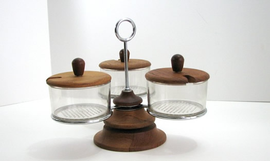 Danish Modern Condiment Server from Nacho Kitty