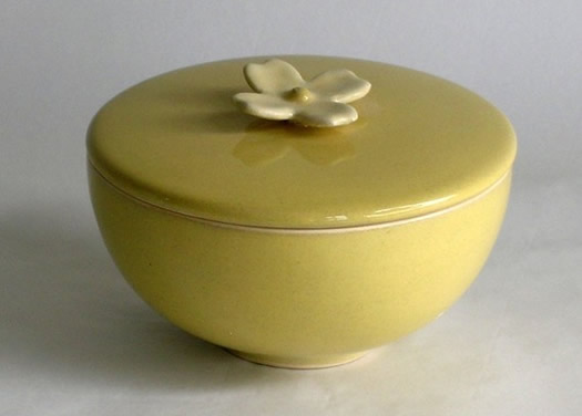 Dogwood Flower Ceramic Lidded Bowl by Whitney Smith
