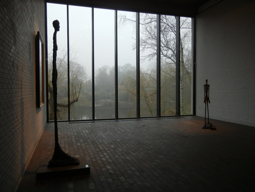 Giacometti sculpture at Louisiana Art Museum
