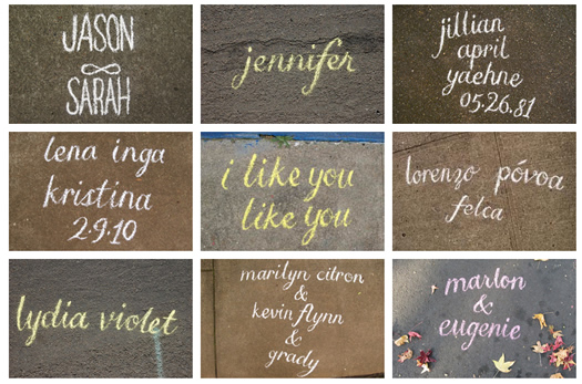 Name in Chalk by Mia Nolting