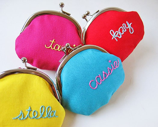 Personalized coin purse by Oktak