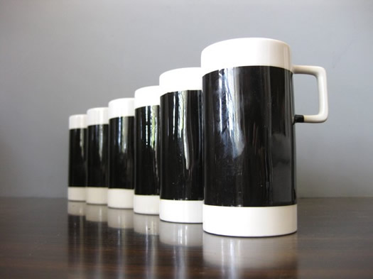 Set of Braniff coffee cups from Look At It Sideways
