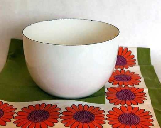 White Bowl by Kaj Franck for Finel at Bit of Butter
