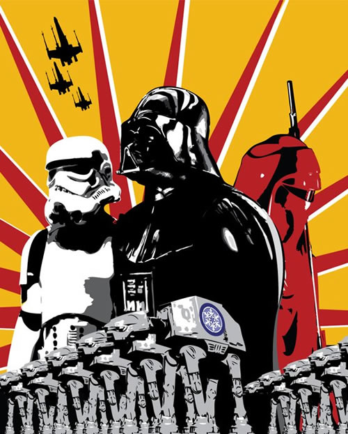 At Ats Darth Vader and Stormtroopers poster