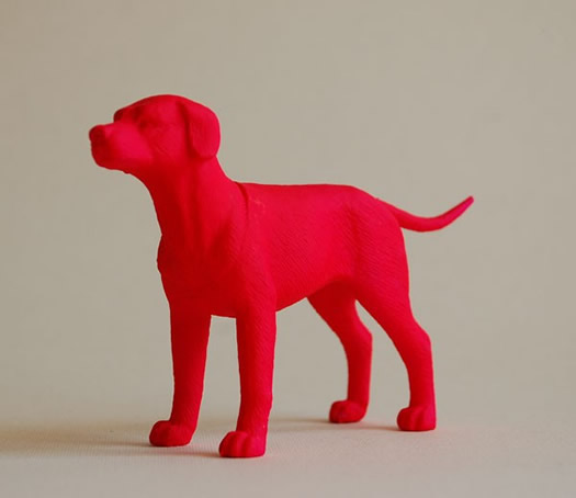 Neon red dog by the Good Machinery