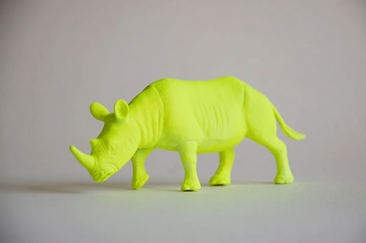 Neon rhino by the Good Machinery