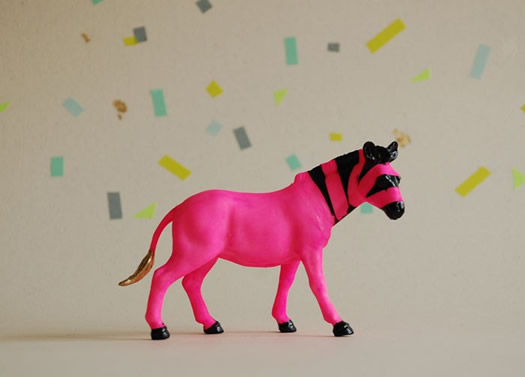 pink and black zebra by the Good Machinery