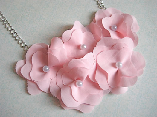 Pink Posy necklace by lapetiteposy