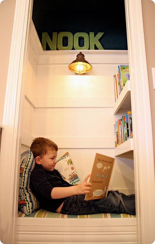 Reading Nook via Ohdeedoh