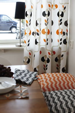 Spira curtains and linens