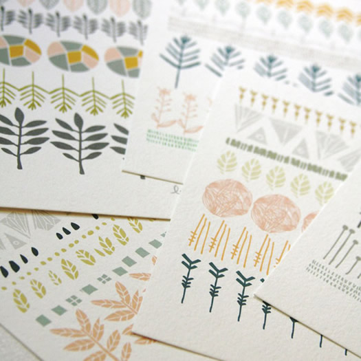 Circles Lines and Shapes print set by Leah Duncan