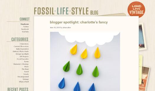 Fossil blog screen shot