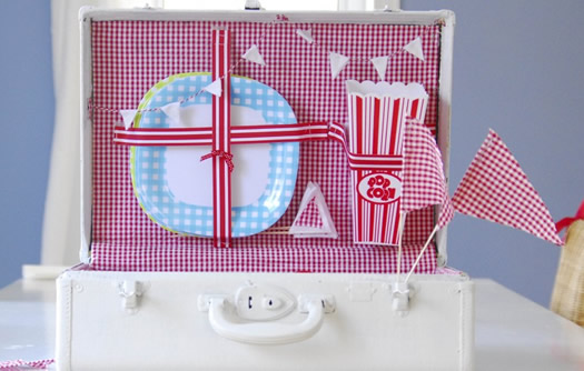 Picnic basket from repurposed suitcase by funkytime
