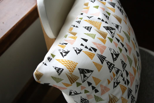Triangles pillow by Leah Duncan