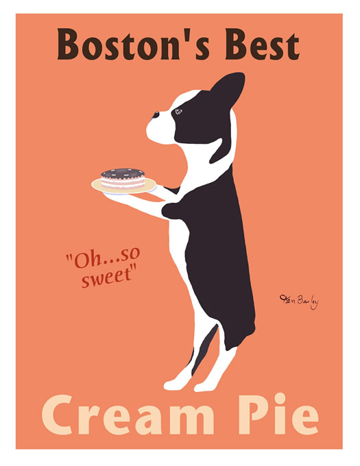 Boston's Best Cream Pie poster by Ken Bailey
