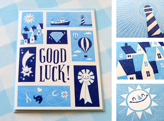 Good Luck card by Esther Aarts for Hello Lucky