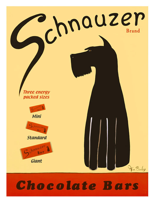 Schnauzer Chocolate Bars poster by Ken Bailey
