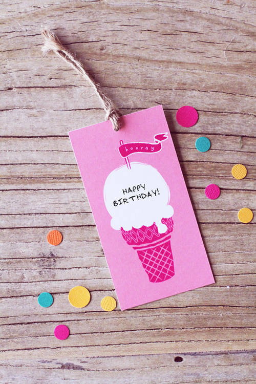 Summer ice cream tags 2 by Eat Drink Chic