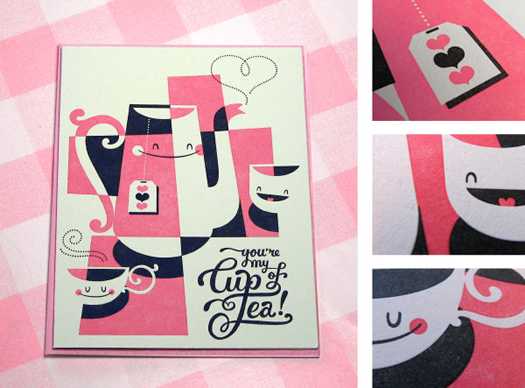 You're my cup of tea card by Esther Aarts for Hello Lucky