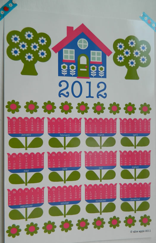 Alice Apple 2012 calendar