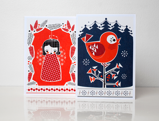Noel holiday cards box set 2 by Darling Clementine