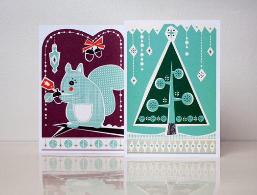 Noel holiday cards box set by Darling Clementine