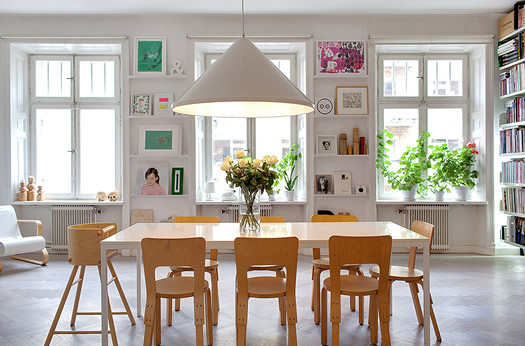 Swedish dining room via Skeppsholmen