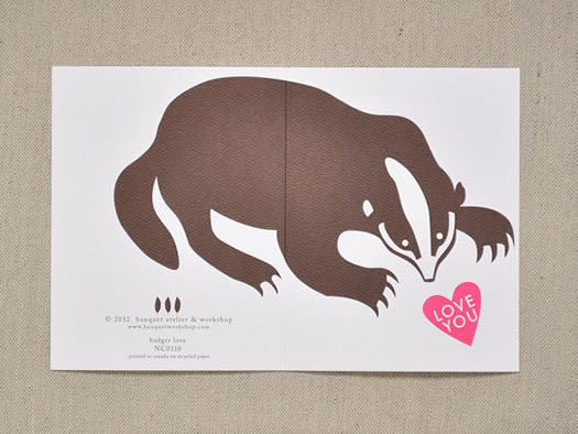 Badger Love You card by Banquet