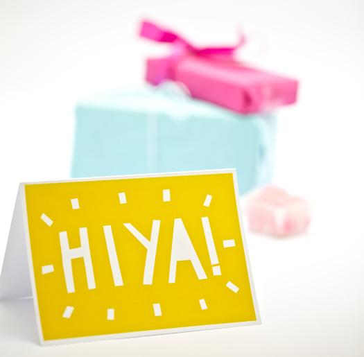 Hiya card by YOKE