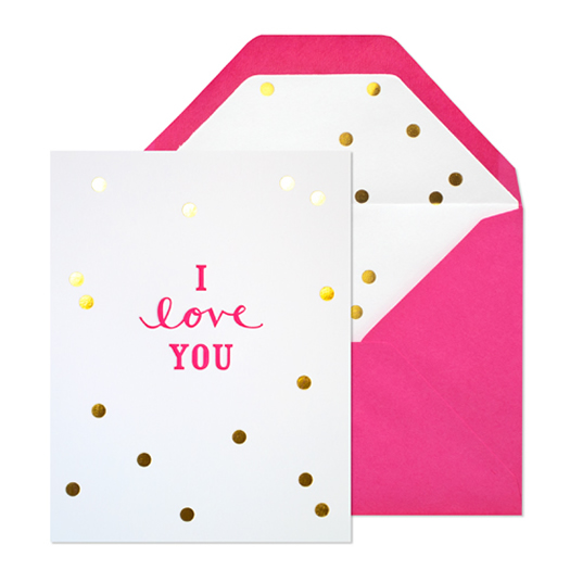 I love you with metallic gold by Sugar Paper