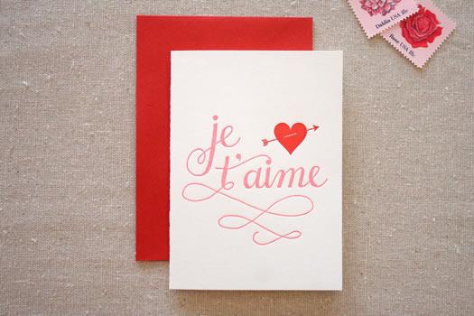 je t'aime by Parrott Design Studio