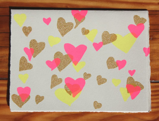 Valentines Day hearts by Gold Teeth Brooklyn