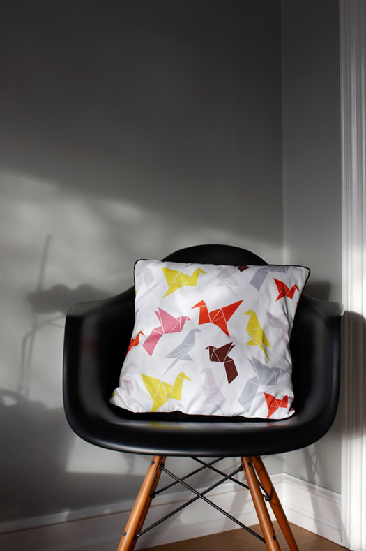 Origami pillow by Dottir and Sonur